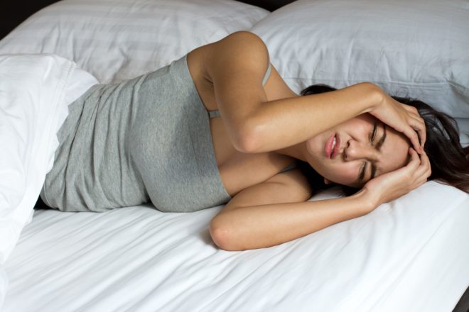 1 - Headache after sleeping in the morning causes pain